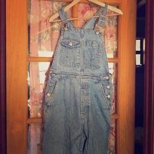 Gap size medium jean overalls